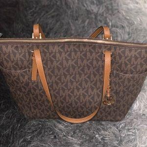 Michael Kors Large Brown/Tan Tote Bag